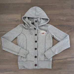 Hollister Button-front Hoodie